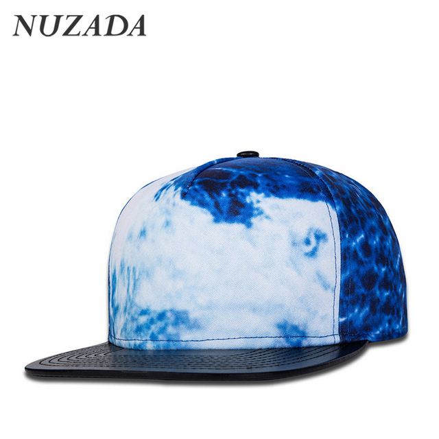 Brands NUZADA Sports Women Men Baseball Caps 3D Printing Taste Design Hip Hop Hats Snapback Bone High End PU Leather Cap jt-134