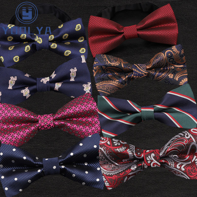 Luxury Mens Bow Ties Adjustable Children Boy Formal Bowties Butterflies Polka Dot Floral Plaid Tuxedo Party Wedding Butterfly
