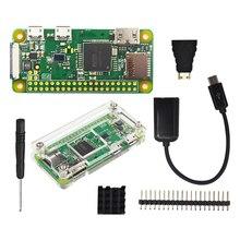 Raspberry Pi Zero W Kit de iniciación, carcasa de acrílico, disipador de calor, cabezal GPIO de 2x20 pines, mejor que Raspberry Pi Zero 1,3