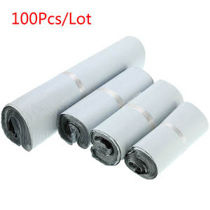 Envelope-Mailer Storage-Bags Courier Poly Plastic Black White Self-Seal 100pcs/Lot Adhesive