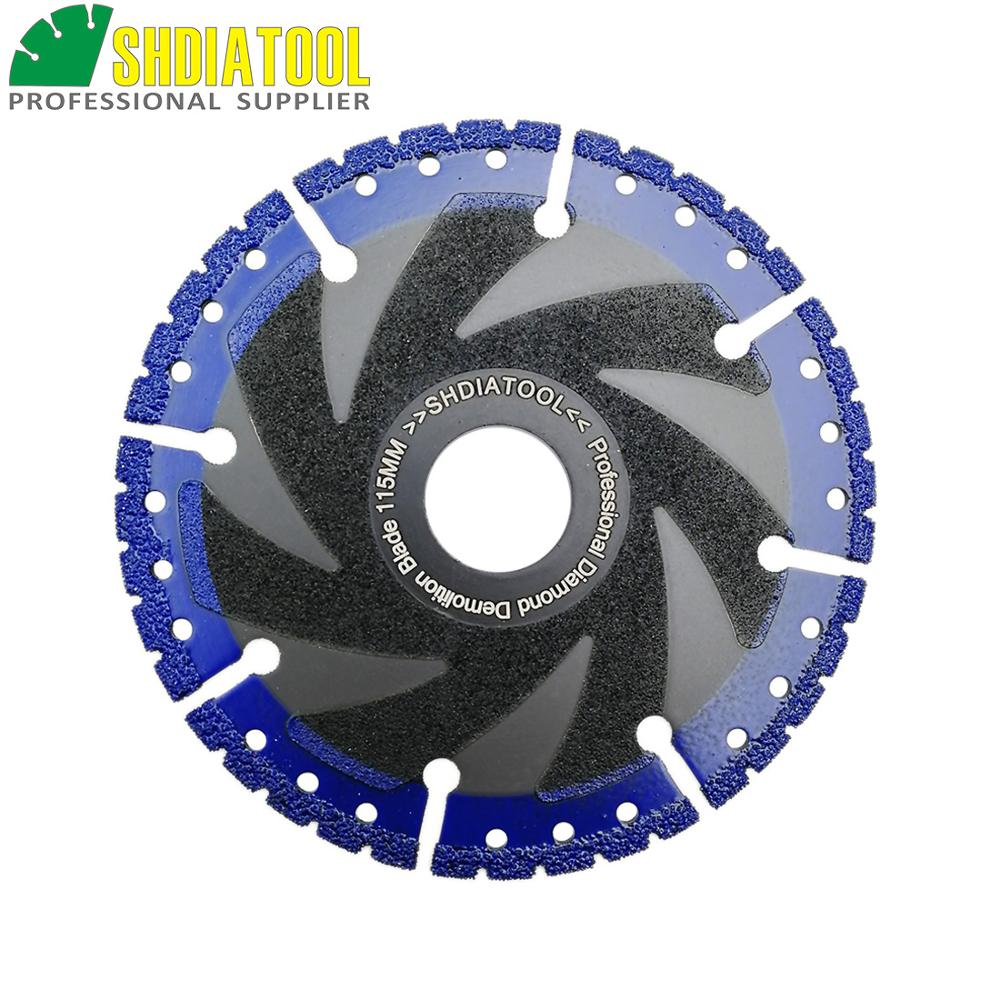 SHDIATOOL 1 Pc Vacuum Brazed Diamond Blade Multi Purpose Cutting Disc Cast Iron Rebar Aluminum Steel Plastic PVC Stone Saw Blade