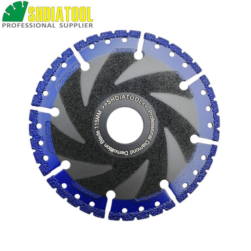 SHDIATOOL 1 Pc Vacuum Brazed Diamond Blade Multi Purpose Cutting Disc Cast Iron Rebar Aluminum Steel Plastic PVC Stone Saw Blade