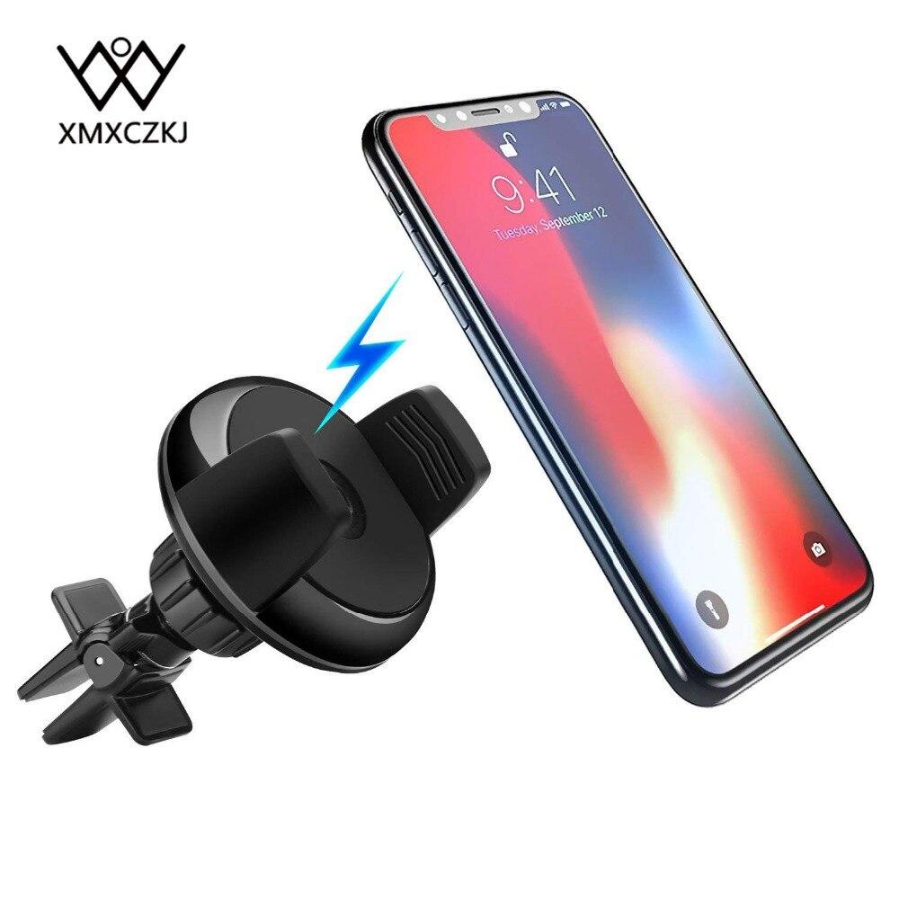 XMXCZKJ <font><b>2</b></font> в <font><b>1</b></font> автомобиль вентиляционное отверстие держатель телефона Qi Беспроводной Зарядное устройство для iPhone X 8 plus USB Зарядное устройство Мощ&#8230;