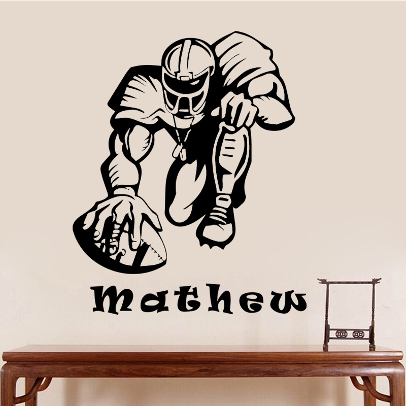 Booter Sport Wall Sticker Mathew Player Wall Decal for Sofa Bedroom Living Room Kids Room Self Adhesive Vinyl Art Wall Sticker image