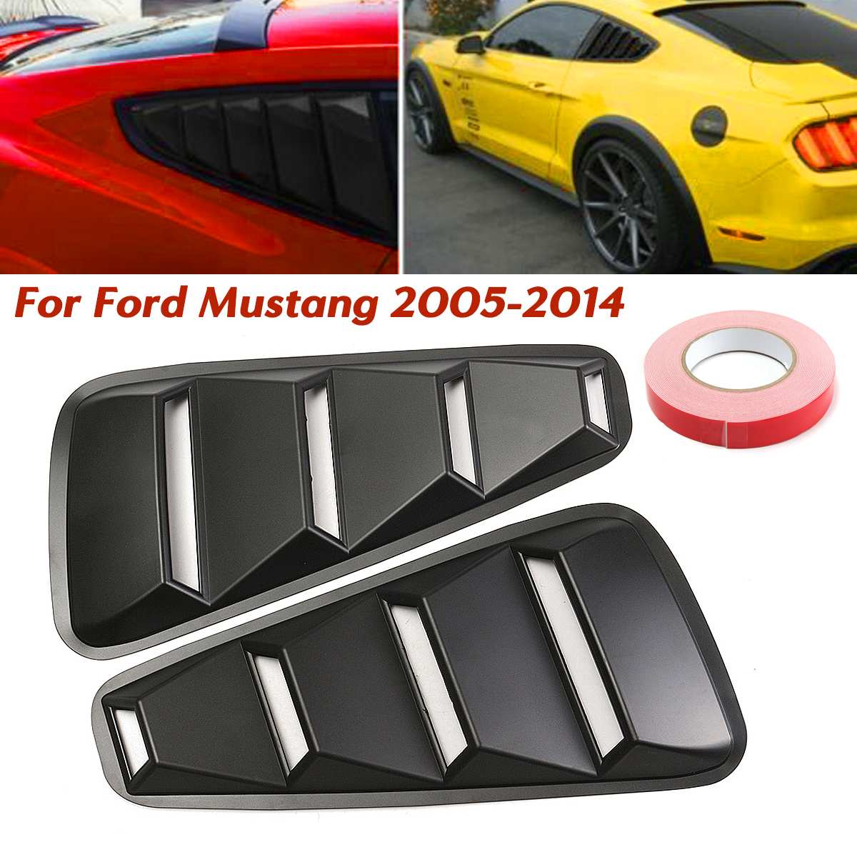 Ford Mustang Hood Vent Louvers imitation Decals 1994 1995 1996 1997 1998 1999