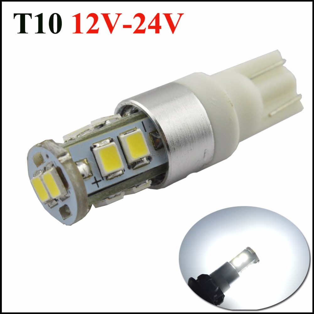 Ruiandsion 2pcs T10 450LM 2835smd led High Power 5W White 194/501 W5W car Bulbs Light Lamp parking car light source