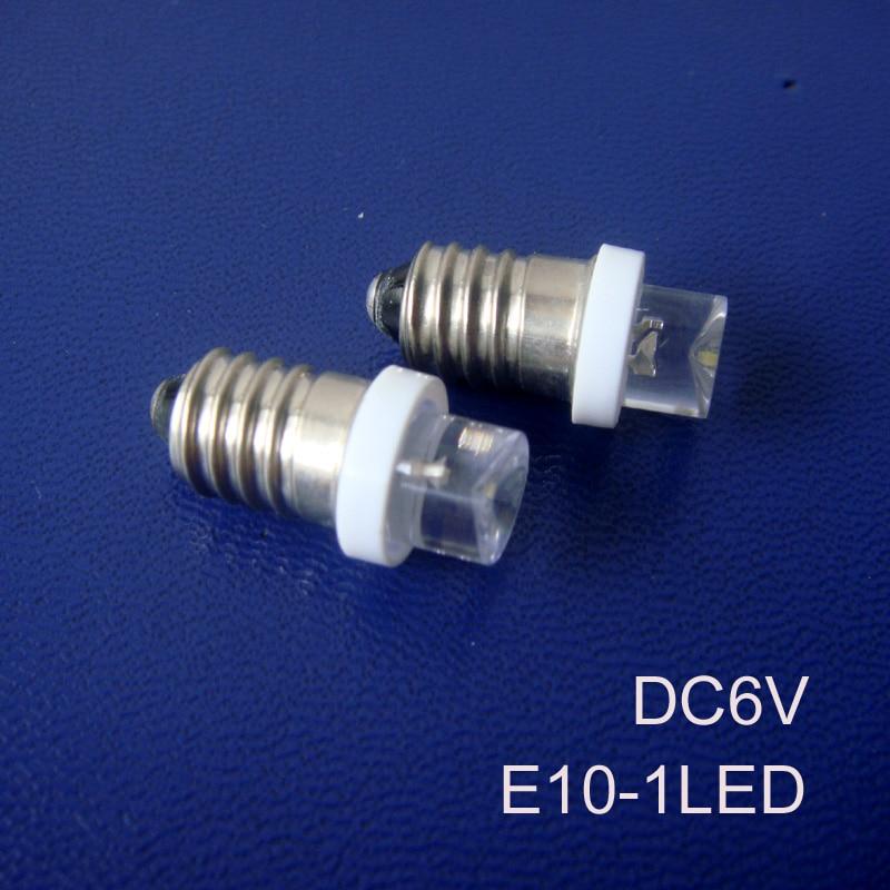 High quality 6.3V E10 led Signal lights,E10 led Pilot lamps,E10 6vdc led bulbs,led E10 Indicator Light free shipping 10pcs/lot