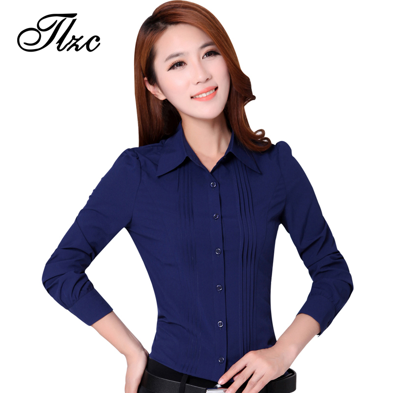 Tlzc promotion lady fashion white career shirt 2017 new for Tops shirts and blouses