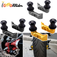 FZ 07 MT 07 Racing Rear Axle Chain Adjuster Blocks Slider Swingarm Spool Adapter Mounts for 2015 2016 Yamaha FZ07 MT07 FZ 07