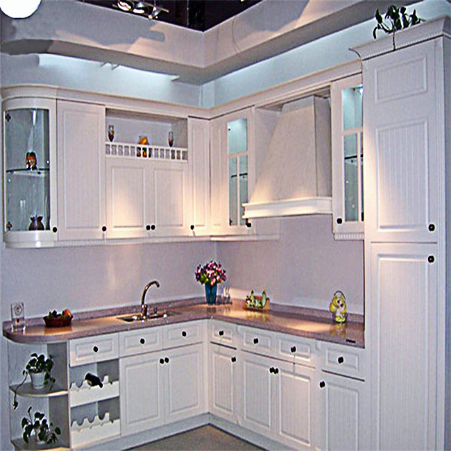 European Style Luxury Kitchen Cabinet Solid Wood Simple