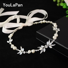 YouLaPan SH132 bridal belt with pearl latest design girls rhinestone beads for dresses and beltl
