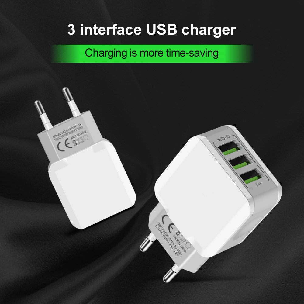 5V-3-1A-Universal-USB-Charger-OLAF-3-Ports-Travel-Adapter-Wall-Portable-EU-Plug-Mobile