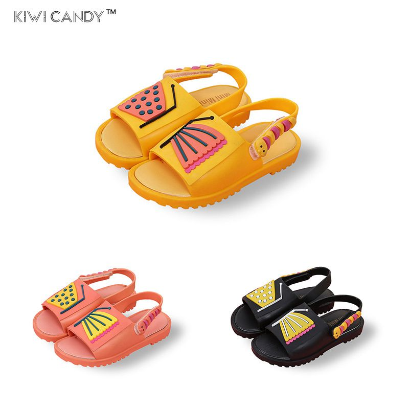 summer kids shoes Girls boys Sandals Childrens shoes clearance cartoon cat butterfly non-slip Princess Shoes Jelly candy smell