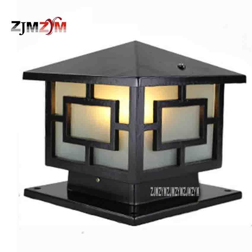 2 шт./лот FLWQD-0527 30 см Европейский настенный светильник Post квадратный лампы светодиодный Водонепроницаемый Открытый Двор ворота огни вилла са... ...