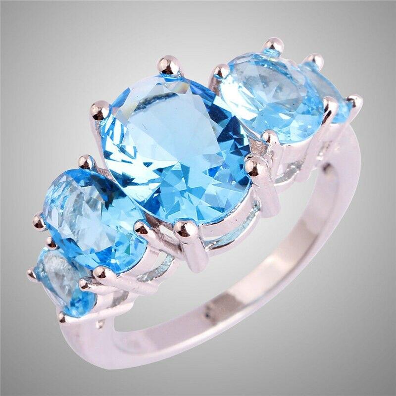 Размер 6, 7, 8, 9, 10, 11, 12, 13, синее овальное кольцо, элегантные подарочные ювелирные изделия, кольца, ювелирные изделия, обручальное кольцо, ювелирные изделия|Обручальные кольца| | АлиЭкспресс