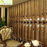 1 unid Europea Noble lujo cortinas para sala bordado Voile cortina dormitorio cortina de ventana (sin cenefa)