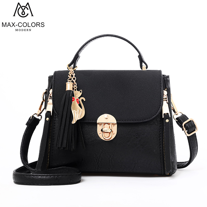 MC New Arrival Brand Women Original Design Painted Shoulder Bags Messenger Bags Leather Casual Tote Toh-handle Bag for women micocah brand new arrival women messenger pu leather bag design with tassel solid color brand bag withe zipper bags gl30015