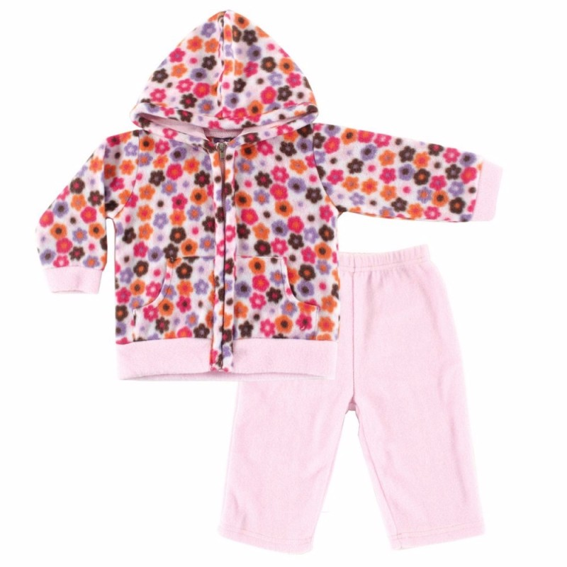 55040 Winter Newborn Baby Boy Girl Clothes Set Kid Flower Warm Clothing Set Fleece Hooded Sweaters + Pant  Warm Baby Set (2)