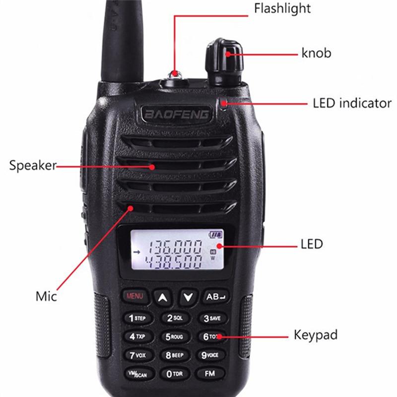 Image 2 - 2PCS BaoFeng UV B6 Portable Walkie Talkie UV B6 Two Way Radio Dual Band VHF/UHF Woki Toki 5W FM Radio Transceiver-in Walkie Talkie from Cellphones & Telecommunications