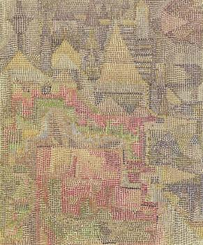 High quality Oil painting Canvas Reproductions Castle Garden (1931) by Paul Klee  Painting hand painted