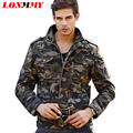 LONMMY Camouflage Military Jackets coat mens Army Winter jackets men coats cotton Thick Velvet 2016 Bomber jacket men M-6XL