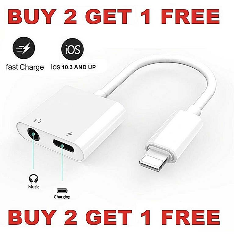 Headphone Adapter CableLightning To 3.5mm Audio Charging Ios12 For IPhone Charger & Headphone Jack For Apple IPhone 7 8 X XR XS