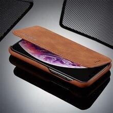 Роскошный бизнес-чехол Fundas для Apple iPhone X XR 7 8 Plus, чехол-подставка для телефона, откидные кожаные чехлы для iPhone X XS MAX, задняя крышка