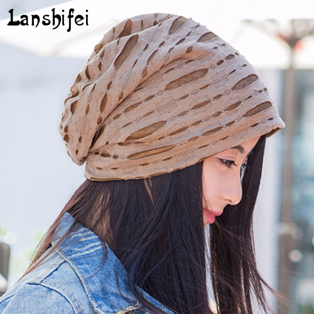 Women and Men Cotton Skullies Beanies Hip-hop Cap Wrinkles Style Trendy Hat Autumn Winter Therapeutic Cap for Cancerous Persons