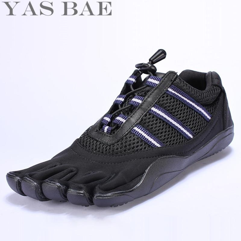 Grande taille 45 44 vente Yas Bae Design en caoutchouc avec cinq doigts en plein air antidérapant respirant poids léger baskets pour hommes garçon