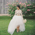 Long Tulle Skirts White Romantic Tutu Skirt Elastic Waist Multi Layers Hi Low Skirt Faldas S-5XL
