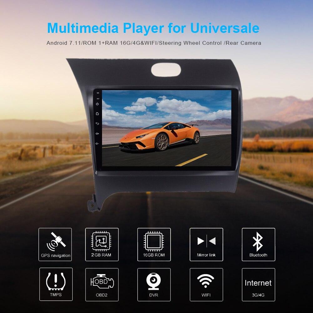 1 din car android 7 1 gps navi for kia forte 2012 2013. Black Bedroom Furniture Sets. Home Design Ideas