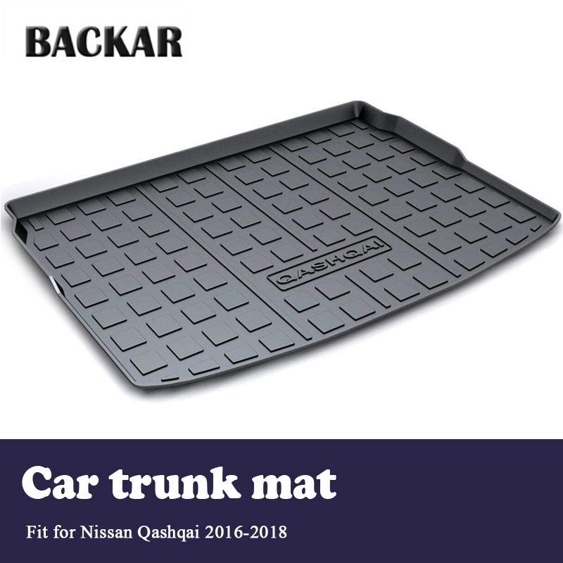 Backa Cargo Rear Trunk Mat Car-styling Boot Liner Tray Waterproof Anti-slip Mat For Nissan Qashqai 2016 2017 2018 AccessoriesBacka Cargo Rear Trunk Mat Car-styling Boot Liner Tray Waterproof Anti-slip Mat For Nissan Qashqai 2016 2017 2018 Accessories