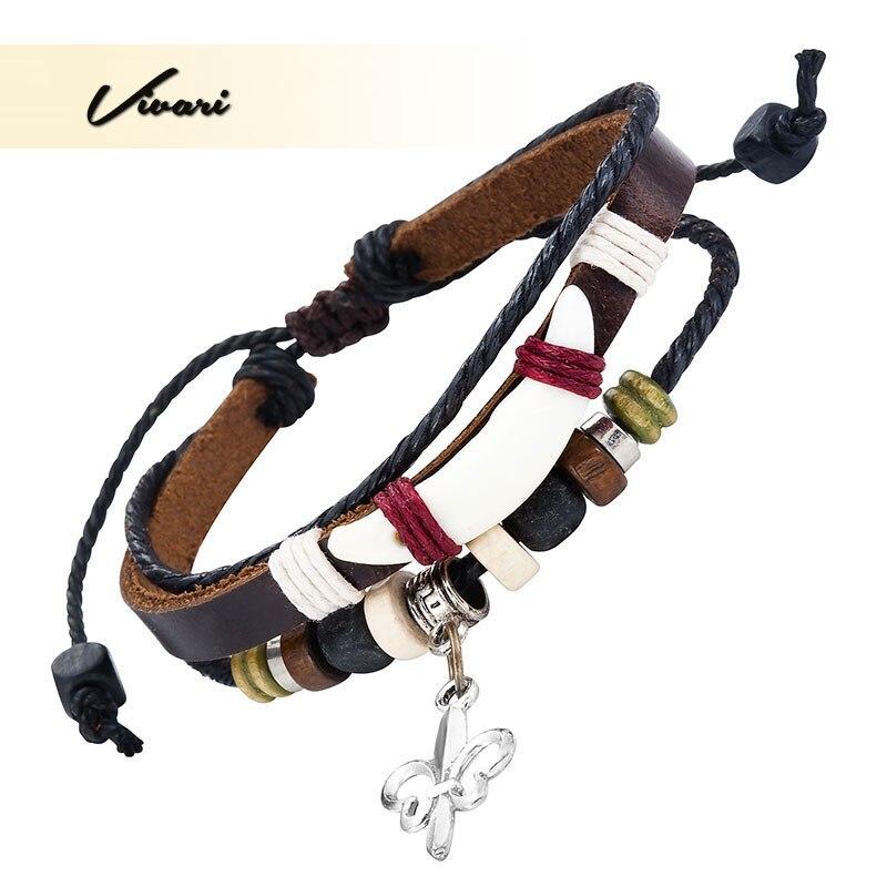 Vivari 2017 Vintage Zinc Alloy Leather Women Bangle Key Shape fashion Men Bracelet Unisex Accessories Air Mail