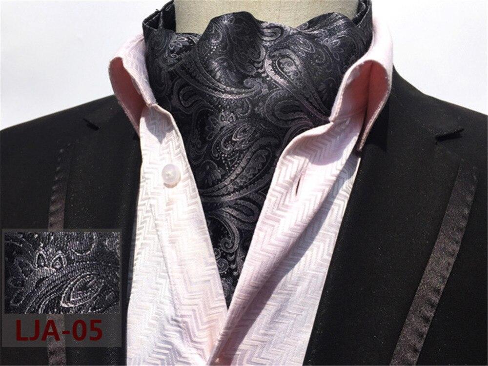 CityRaider Paisley Print Designer Men's Silk Grey Cravat