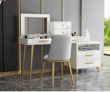 Modern retractable female dresser receives ark white hong kong-style light luxury bedroom dressing cabinet clamshell dressing .