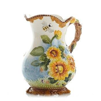 American Sun Flower Flowers Vases Ceramic Vase Ornaments Sunflower Hydroponic Vase Home Decoration Accessories R1905