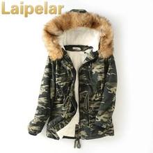 2018 New Fashion Winter Cotton Jacket Women Camouflage Coats Parka Sashes Slim Jackets Female Coat Parkas Laipelar
