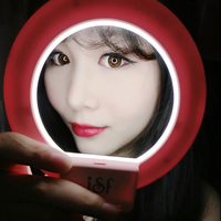 Ulanzi ISF LED Selfie Ring Light Supplement Brightness Photo Light Clip-on Makeup Beauty Video Lamp for iPhone Samsung S8 S7 2