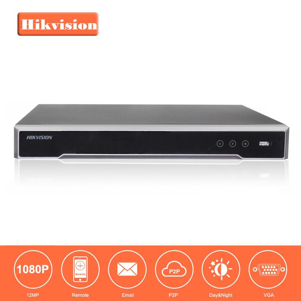 Оригинал HIKVISION H.265 4 К NVR 16CH DS-7616NI-I2/16 P Профессиональный POE NVR для видеонаблюдения Камера Системы HDMI VGA plug & Play NVR