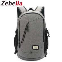 15 Zoll Laptop Rucksack Männer USB Lade Nylon Computer Tasche Kopfhörer Loch Rucksack Daypack Notebook Schultasche Bolsa Mochila