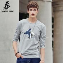 Pioneer Camp С Длинным Рукавом Футболки мужчин Экологические Печати Футболка мужской Повседневная мода Футболки Бренд-Clothing 699007(China (Mainland))