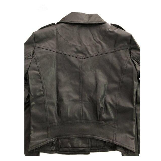 Women Black Slim Cool Lady Leather Jackets 5