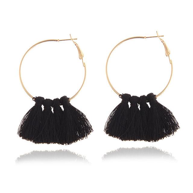 Bohemian Multicolored Tassel Earrings