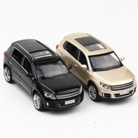 For Tiguan Alloy Car Model Simulation Auto Speelgoed Pull Back Diecast Scale Model Car Toys for Children Super Speed Wheels 1:32
