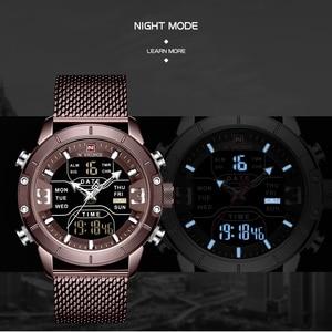 Image 3 - Nowy NAVIFORCE mężczyźni zegarki Top marka luksusowe mężczyźni Sport zegarek kwarcowy cyfrowy zegar męskie zegarki wodoodporne Relogio Masculino