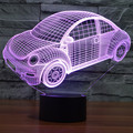 New Cars Model 3D Table Lamp Color Change Night Light LED Luminaria Bedroom Lighting Toys Beetles Cars 2 for Boys Child Gift