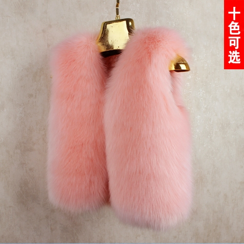 2016 Autumn and Winter Fur Vest Children Baby Boy Girl Boy Jacket Vest Thickening Vest