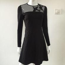 2017 Брендовые женские высококачественные модные элегантные тонкие с вышивкой птицы вязаные платья