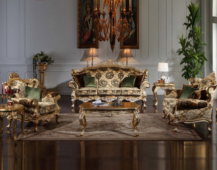 European Style Hand Carved Wood Classical Sofa Baroque Single Double Triple  Combination Of Luxury Living Room Sofa In Living Room Sofas From Furniture  On ... Part 97