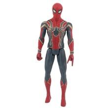30cm Marvel Avengers Hero Model Spider-Man Iron Man American Captain Leopard Green Huge Action Model Toy Doll Child цена и фото